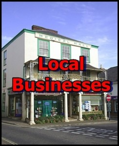 Local Businesses for front page of website
