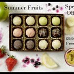 A selection of chocolate summer fruits