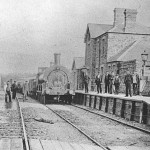 Broad Gauge train at South Molton, 1874