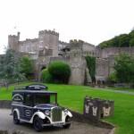 vintage car & castle