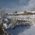 Snow at Flitton Oak Barns
