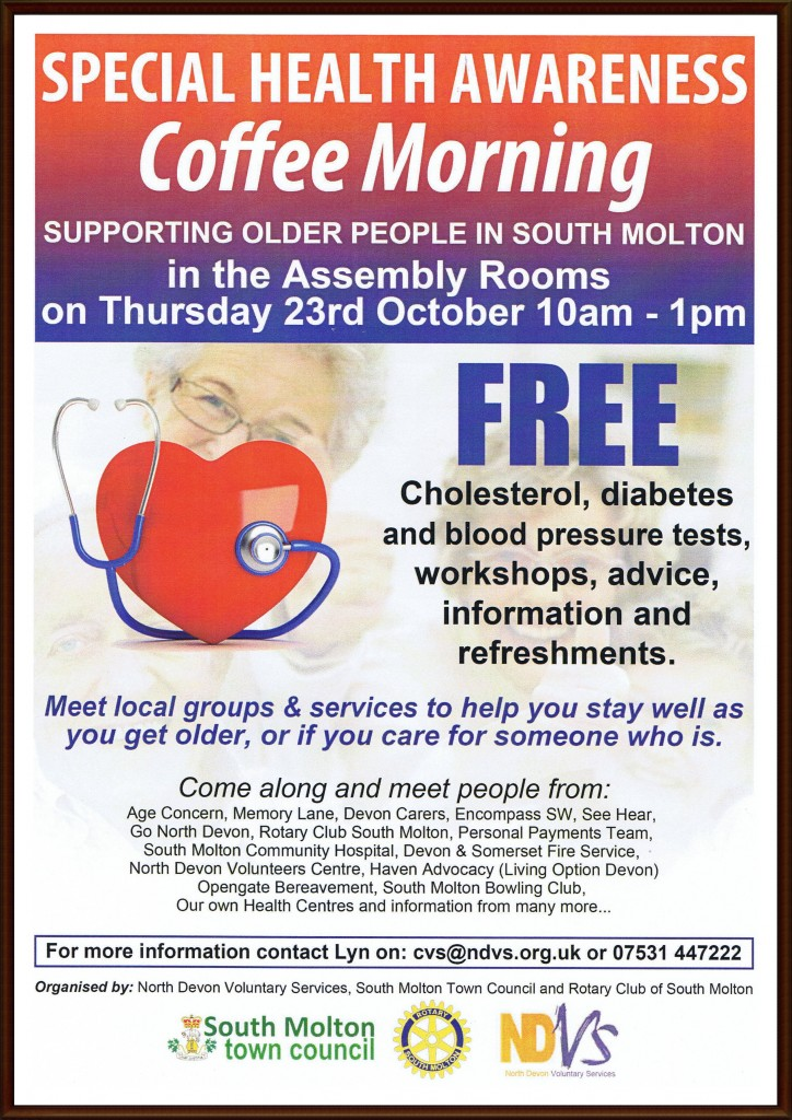 Health Awareness Coffee Morning 2014