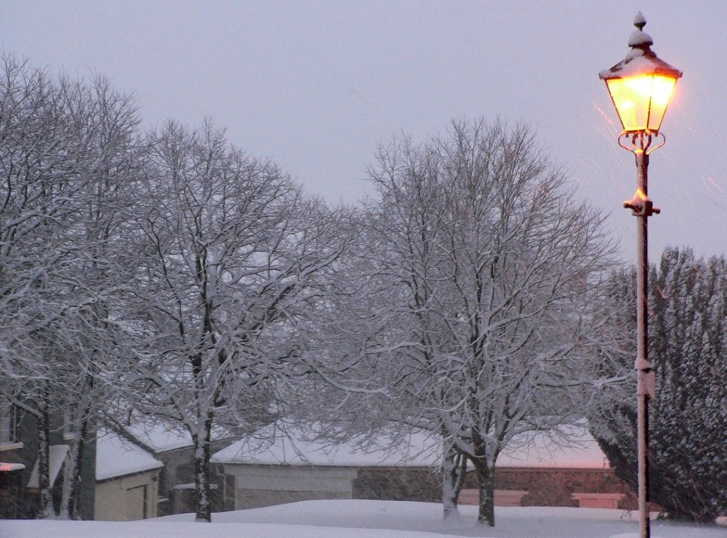Snow in the churchyard
