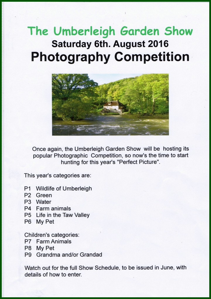 Umberleigh Garden Show Photo Comp. 2016