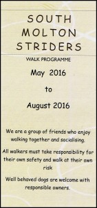 Striders May 2016