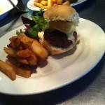 a hearty burger