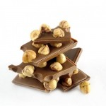 Milk chocolate with whole hazelnuts