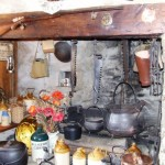 Old cooking Fireplace with original beams